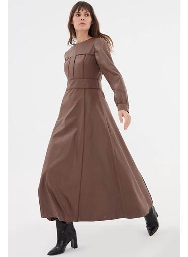 Vivencia Suni Deri Kadın Elbise  Vizon